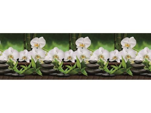 Фартук кухонный No 443 Орхидеи белые