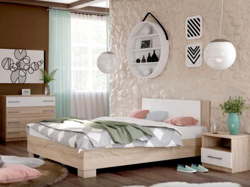 Спальня Аврора дуб сонома-белый