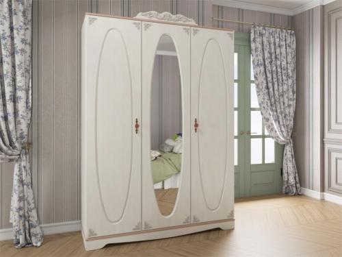 Шкаф трехдверный с зеркалом Флоранс