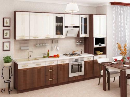 Модульная кухня Каролина с фрезеровкой