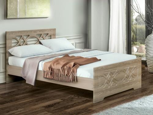 Кровать двойная Венеция 7 Ясень Шимо светлый
