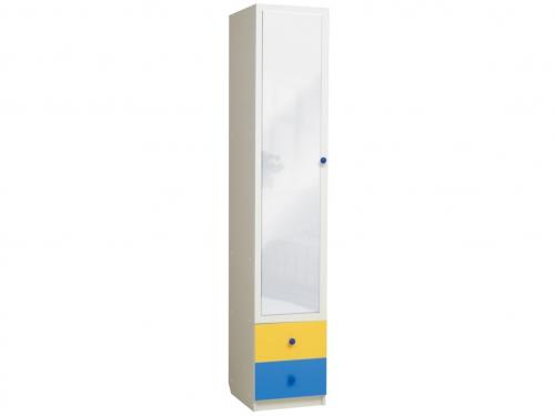Шкаф 1-но дверный с ящиками и зеркалом Радуга