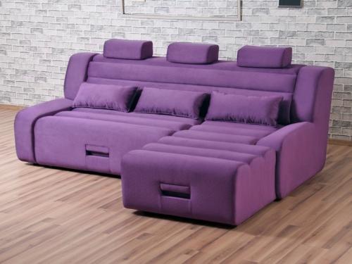 Угловой диван Медео с оттоманкой Vivant 2-17