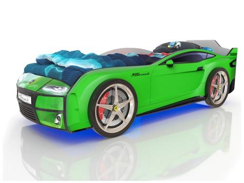 Кровать-машинка Romack Kiddy зелёная