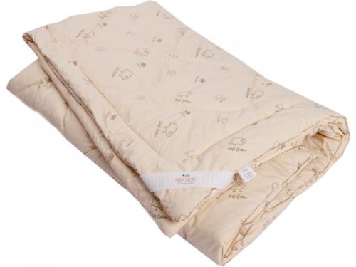 Одеяло стеганое на овечьей шерсти легкое