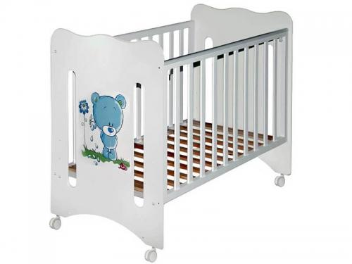 Кроватка детская Руслана Медвежонок с цветами