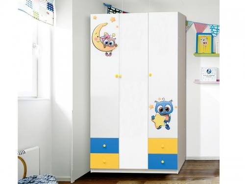 Шкаф 3-х дверный с ящиками Совята 3-2