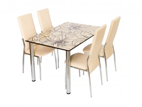 Стол со стеклом Глория