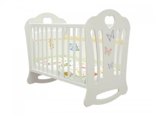 Кроватка детская Шарлотта Бабочки Белая